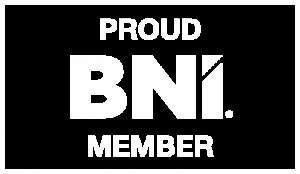BNI Proud Member Logo WHITE